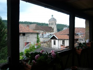 View from our room in a 14th century home in Figeac